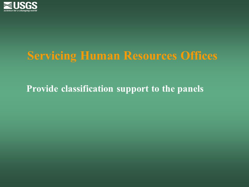 Servicing Human Resources Offices
