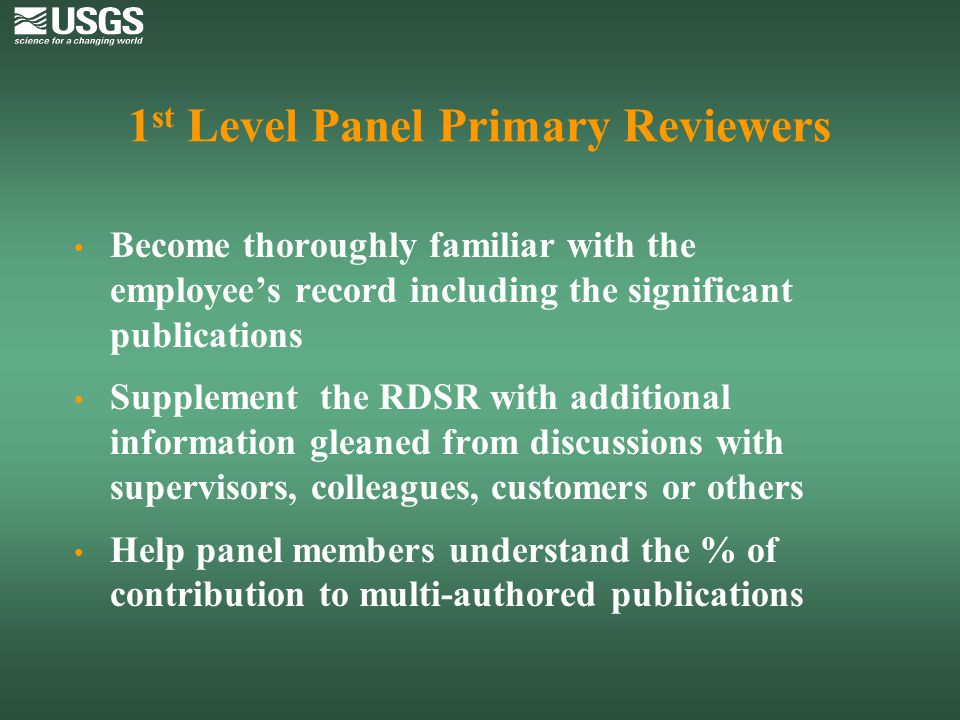 1st Level Panel Primary Reviewers