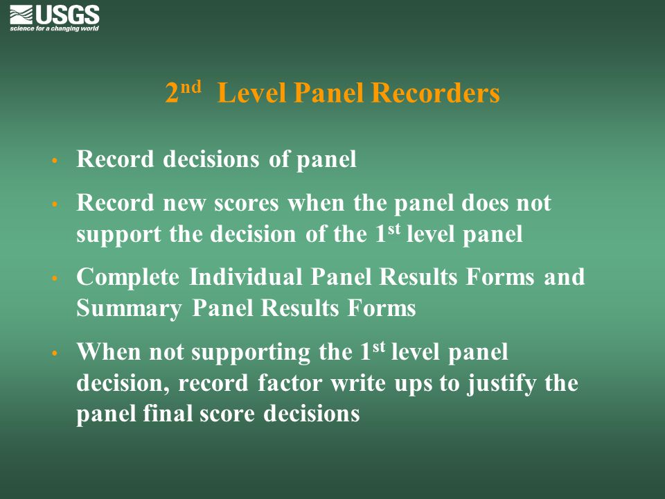 2nd Level Panel Recorders