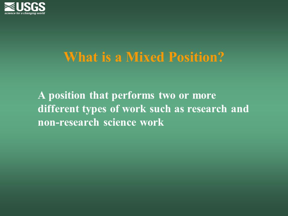 What is a Mixed Position