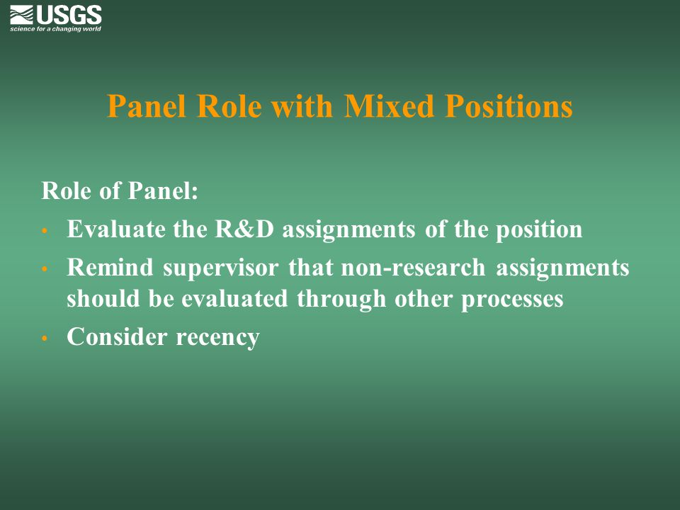 Panel Role with Mixed Positions
