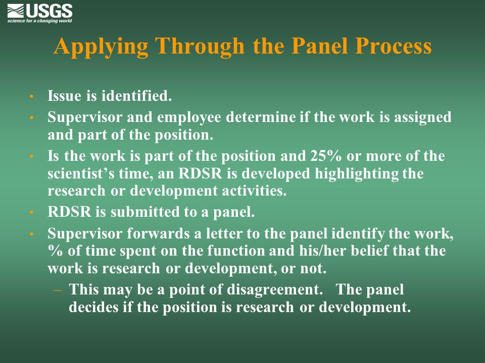 Applying Through the Panel Process