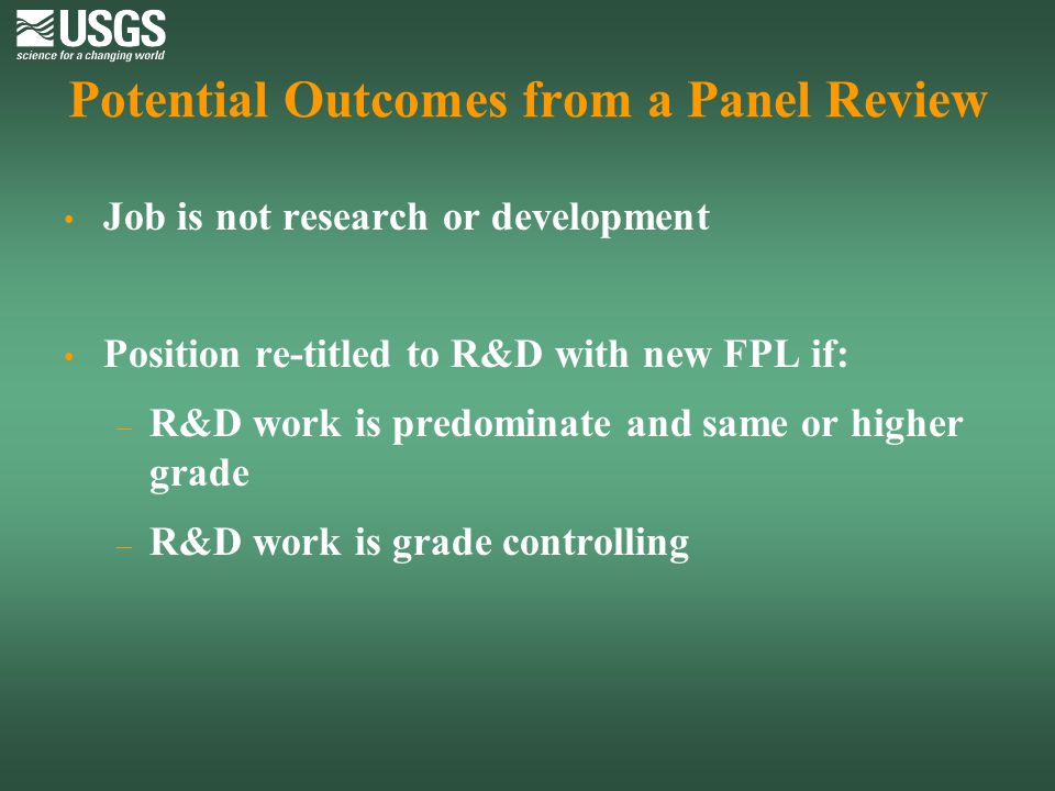 Potential Outcomes from a Panel Review