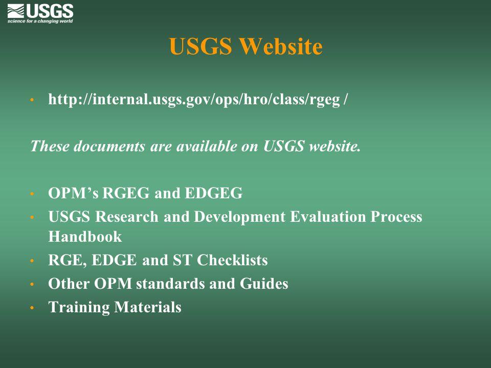 USGS Website http://internal.usgs.gov/ops/hro/class/rgeg /