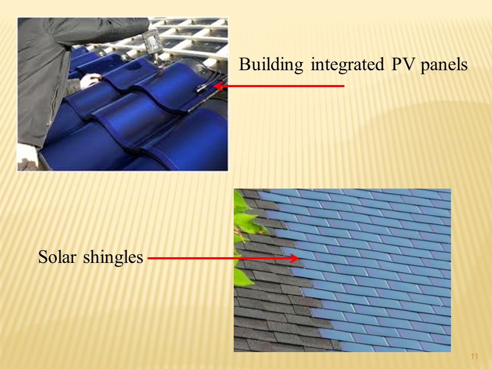 Building integrated PV panels