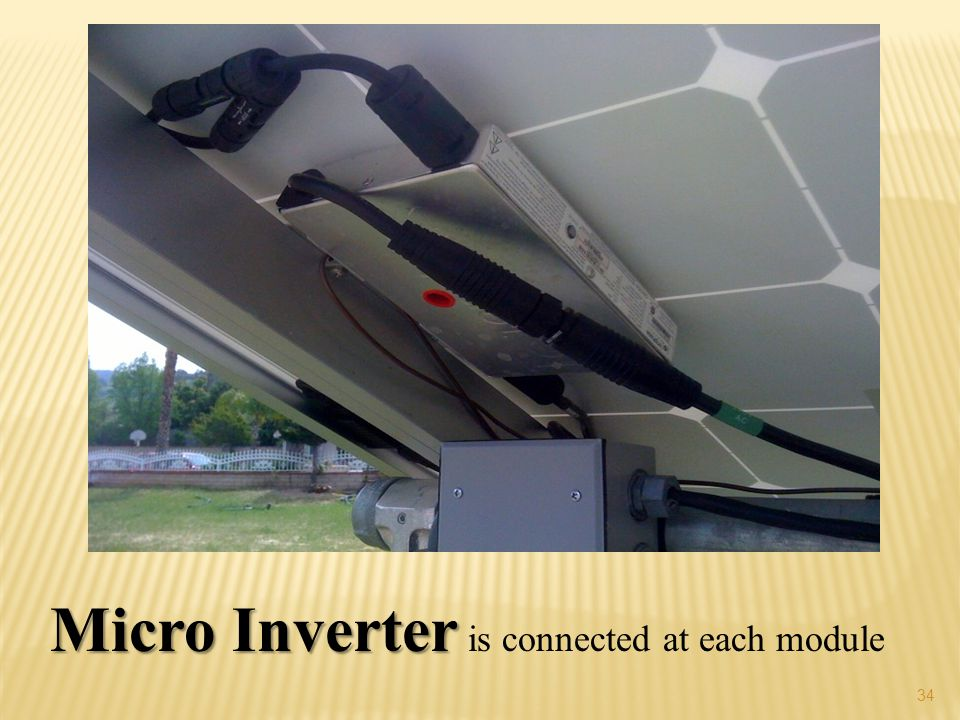 Micro Inverter is connected at each module