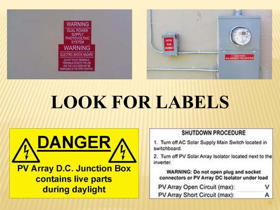 LOOK FOR LABELS