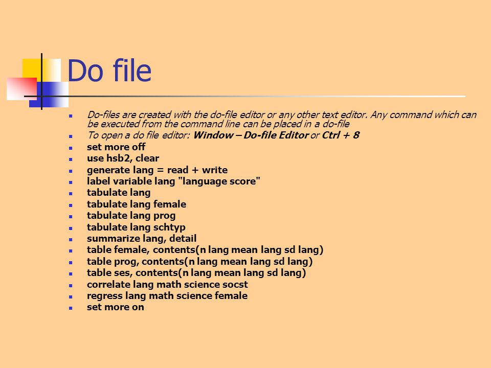 Do file