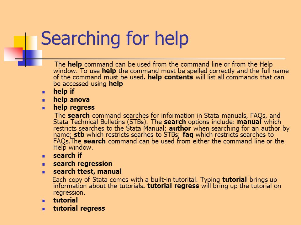 Searching for help