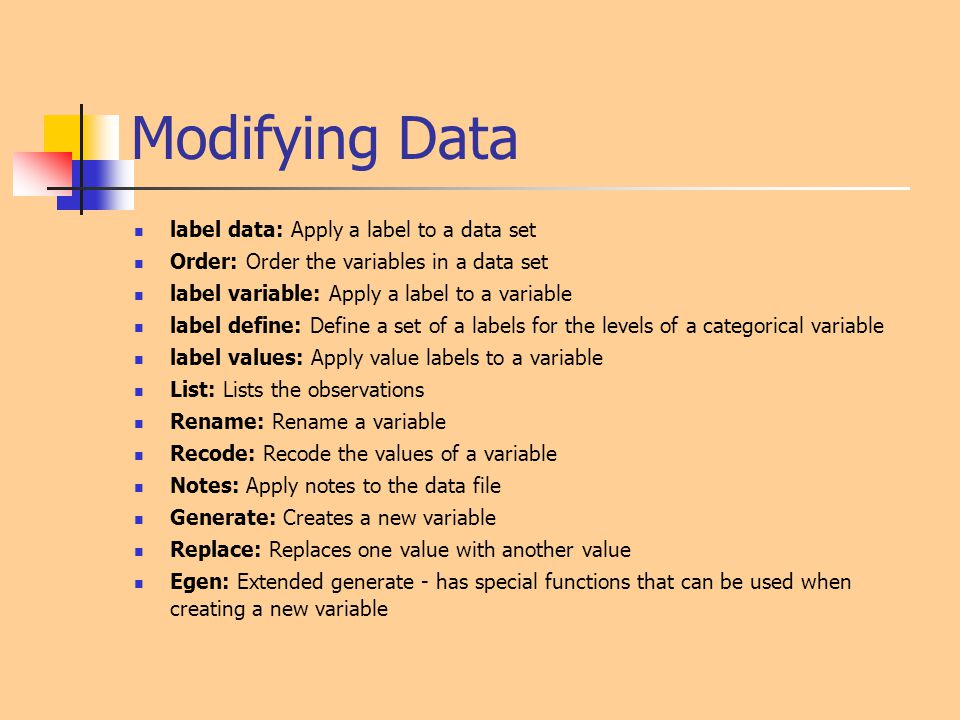Modifying Data label data: Apply a label to a data set