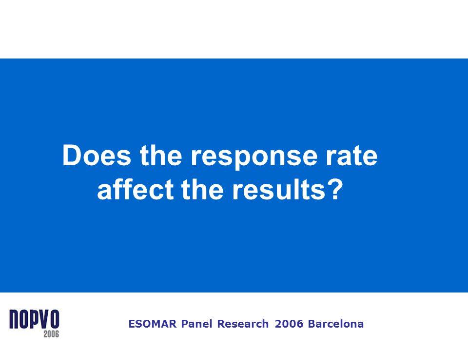 Does the response rate affect the results