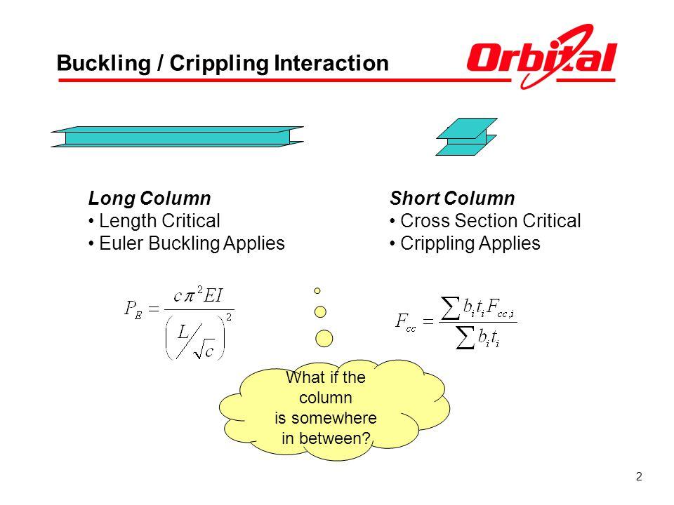 Buckling / Crippling Interaction