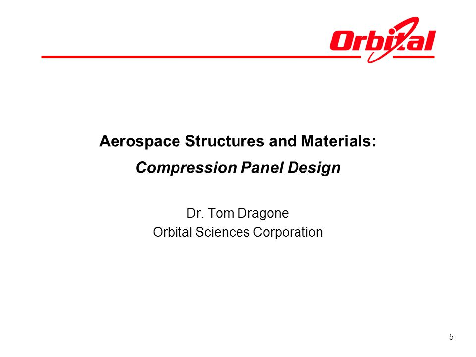 Aerospace Structures and Materials: Compression Panel Design
