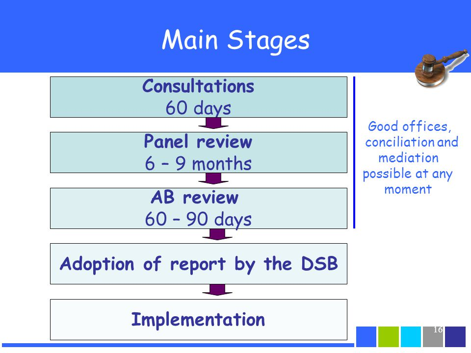 Adoption of report by the DSB