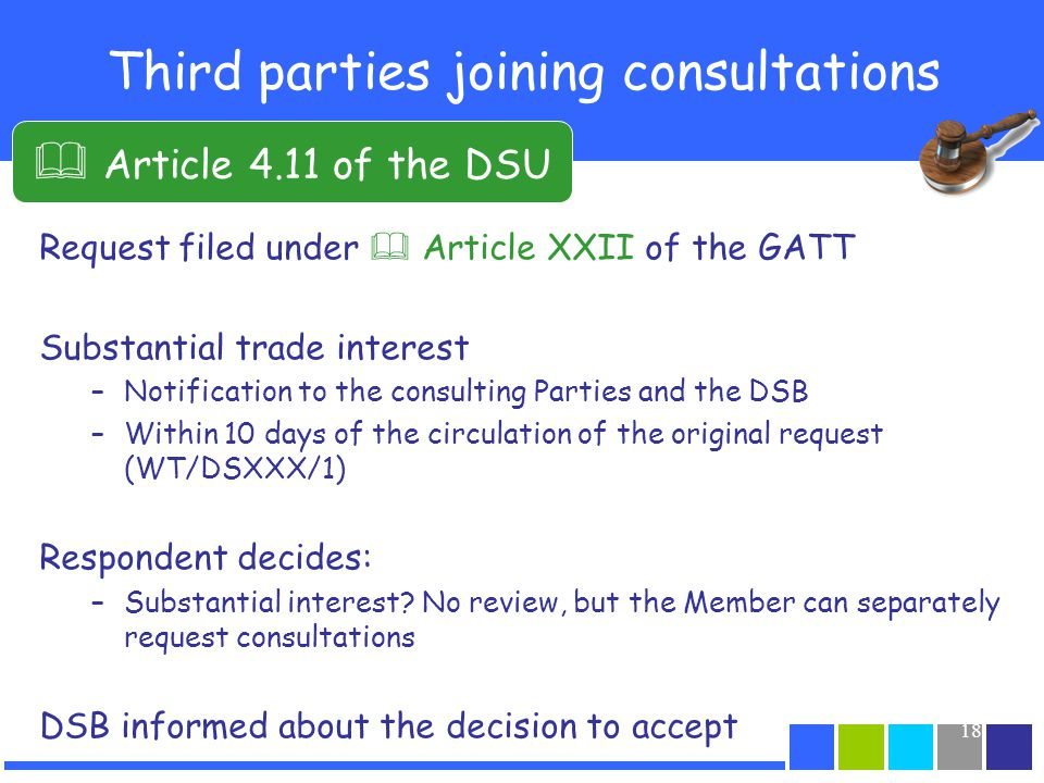 Third parties joining consultations