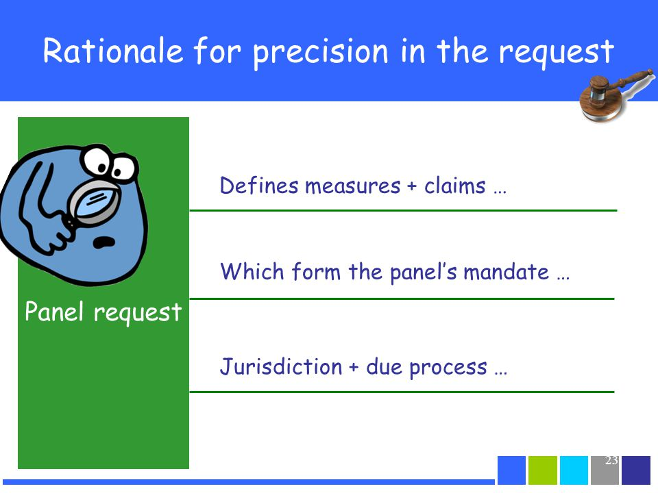 Rationale for precision in the request