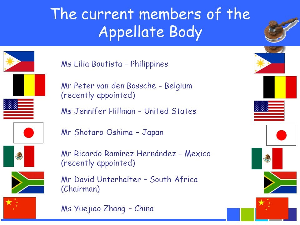 The current members of the Appellate Body