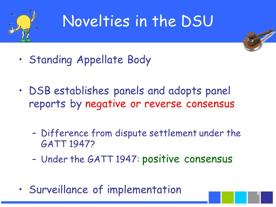 Novelties in the DSU Standing Appellate Body