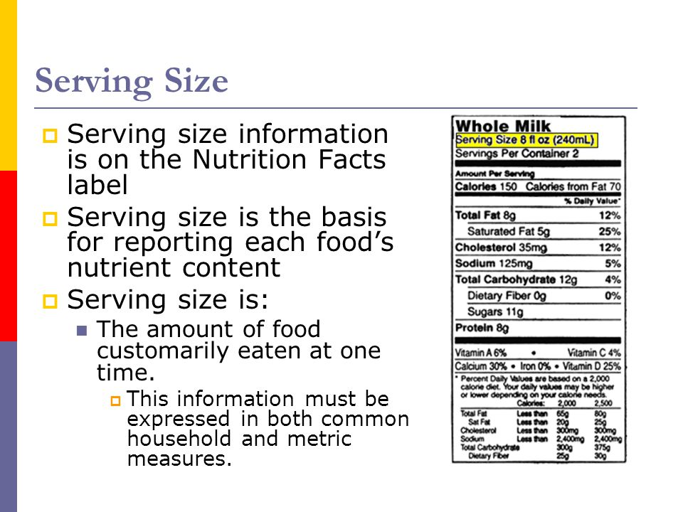 Serving Size Serving size information is on the Nutrition Facts label