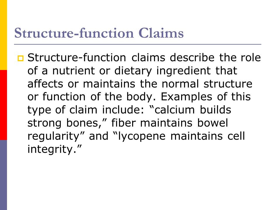 Structure-function Claims