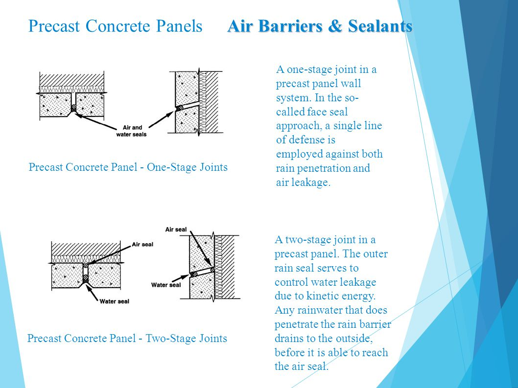 Precast Concrete Panels Air Barriers & Sealants