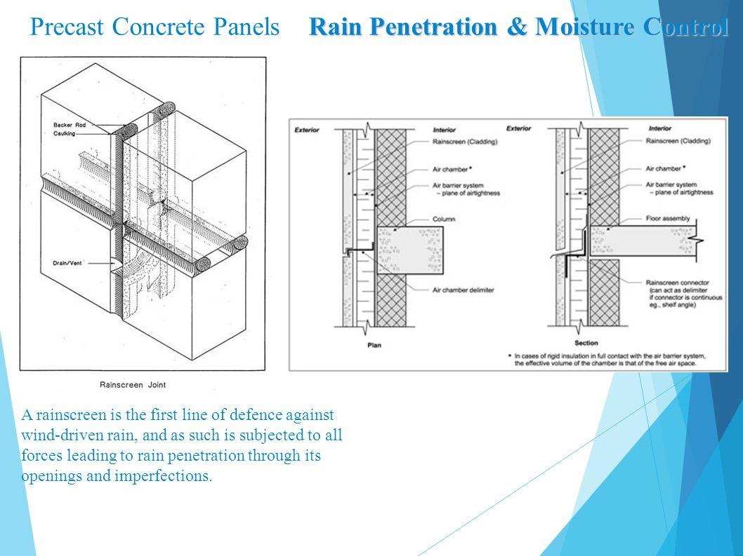 Precast Concrete Panels Rain Penetration & Moisture Control