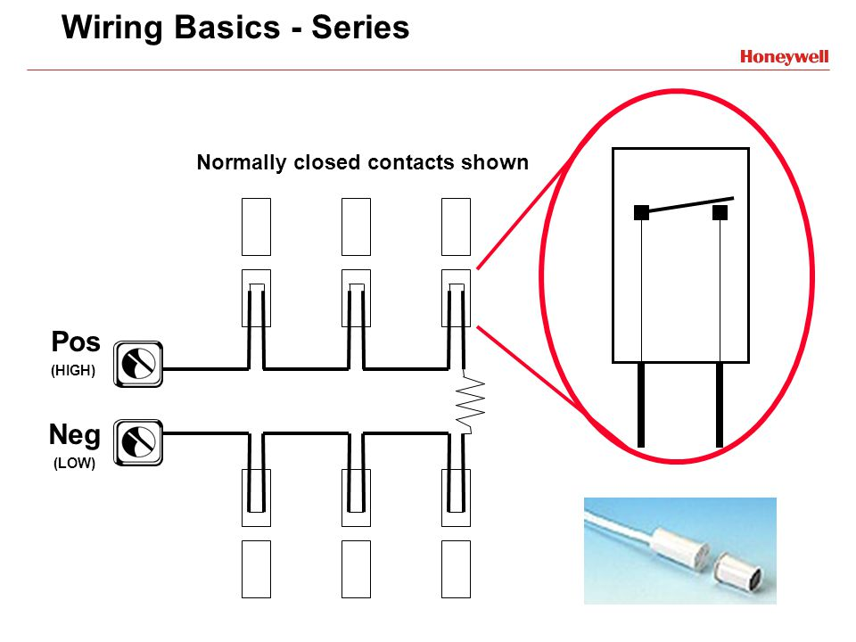 Wiring Basics - Series Pos Neg Normally closed contacts shown (HIGH)