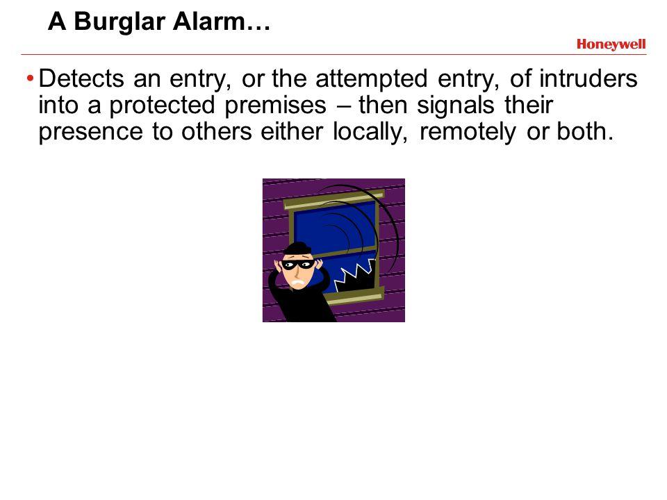 A Burglar Alarm…