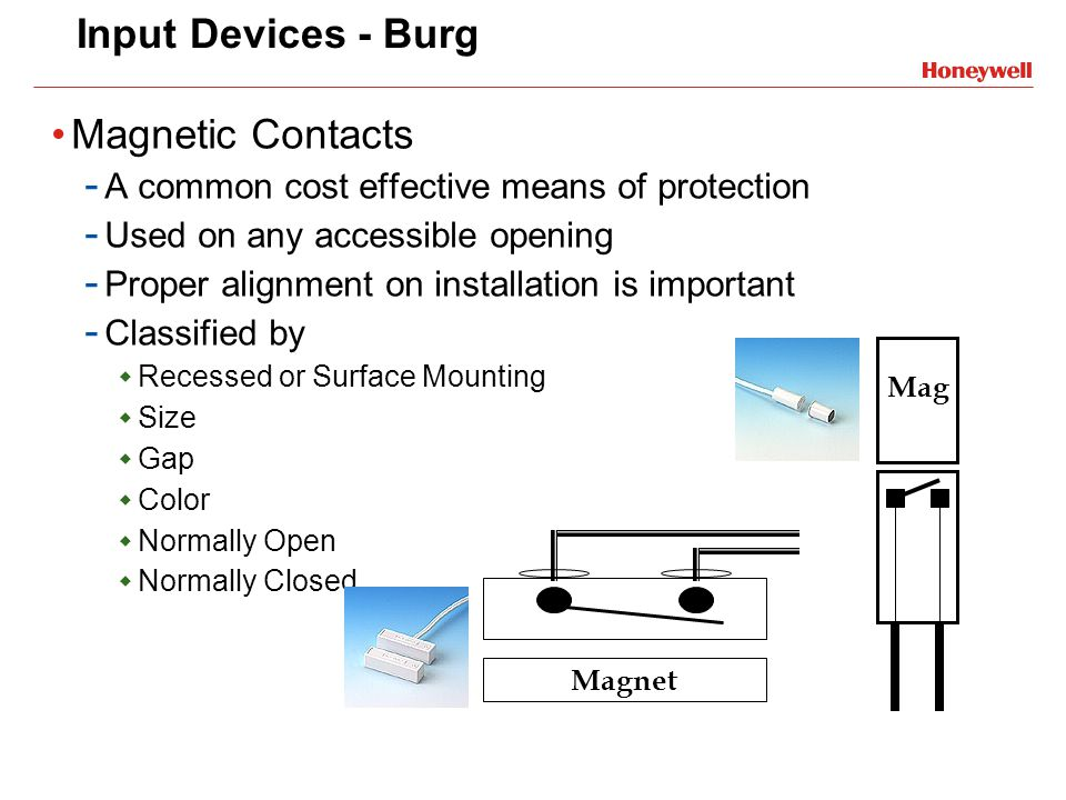 Input Devices - Burg Magnetic Contacts