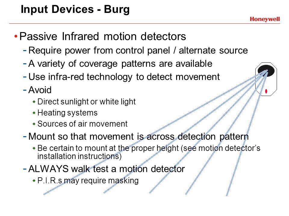 Passive Infrared motion detectors