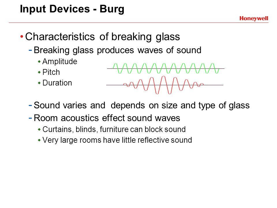 Characteristics of breaking glass