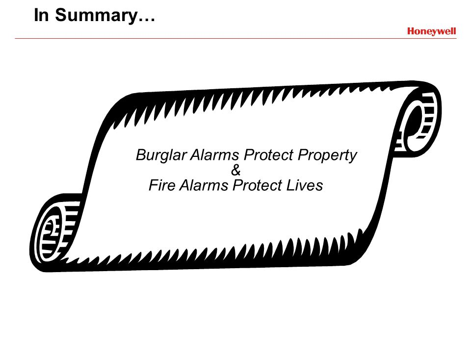 Burglar Alarms Protect Property & Fire Alarms Protect Lives
