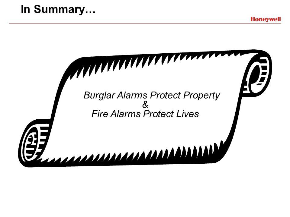 Burglar Alarms Protect Property & Fire Alarms Protect Lives