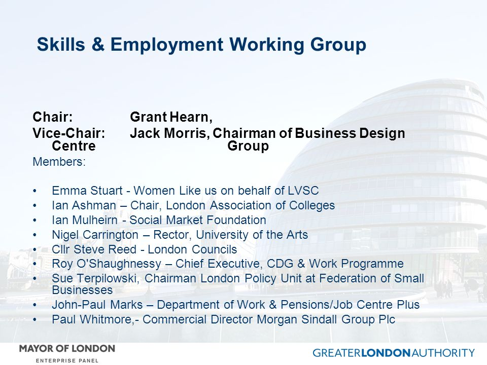 Skills & Employment Working Group
