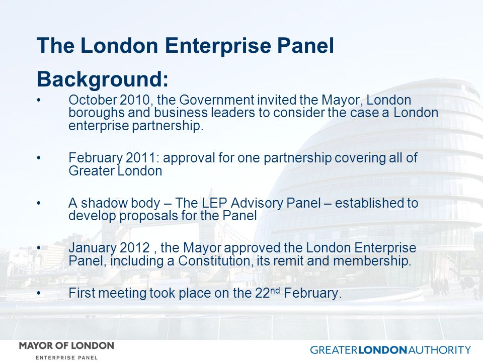The London Enterprise Panel