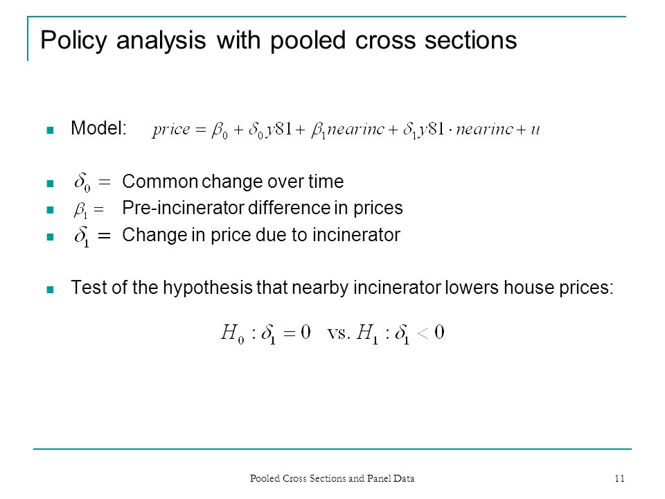 Policy analysis with pooled cross sections