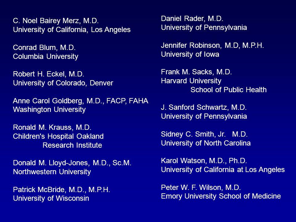Daniel Rader, M. D. University of Pennsylvania Jennifer Robinson, M