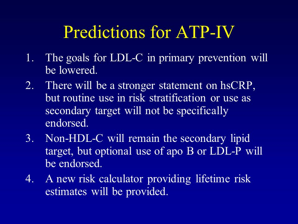 Predictions for ATP-IV