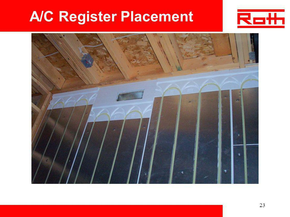 A/C Register Placement