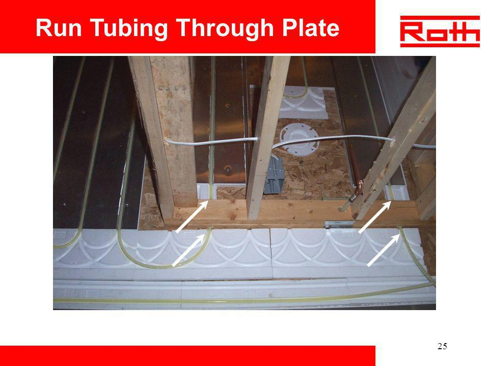 Run Tubing Through Plate