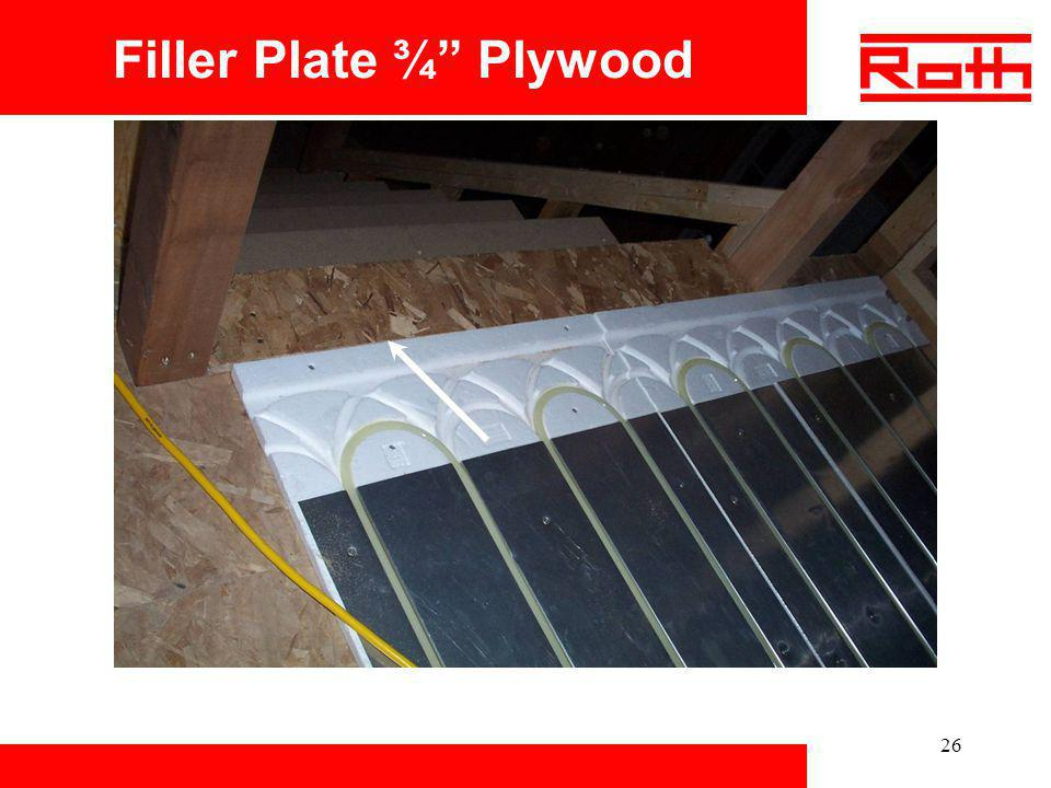 Filler Plate ¾ Plywood