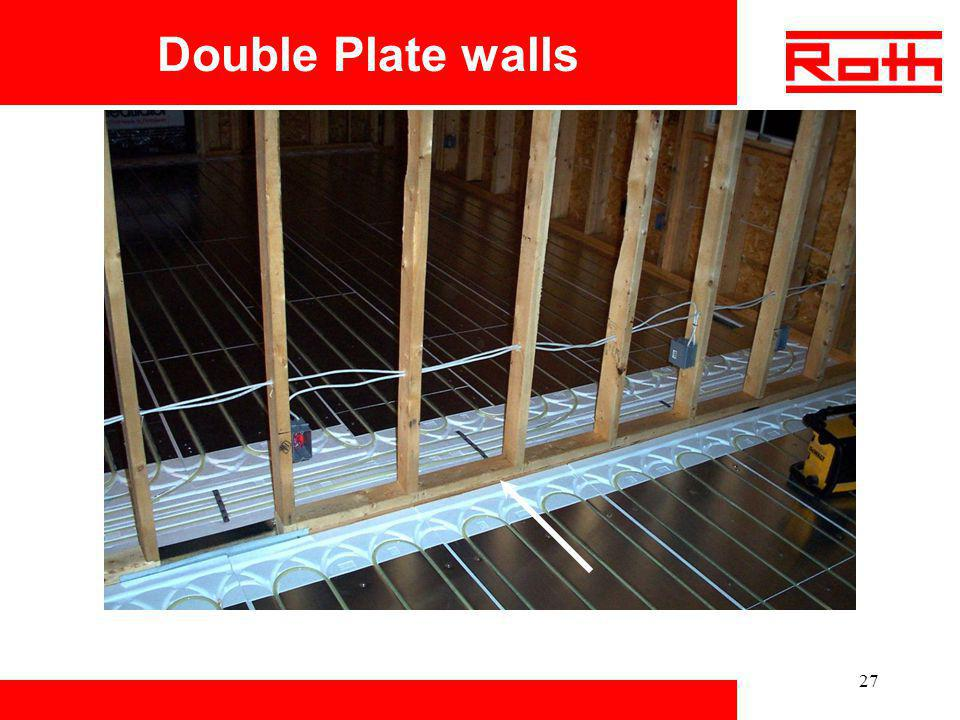 Double Plate walls