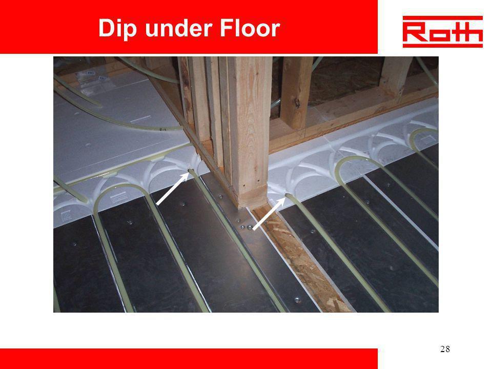 Dip under Floor