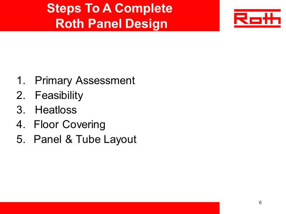 Steps To A Complete Roth Panel Design