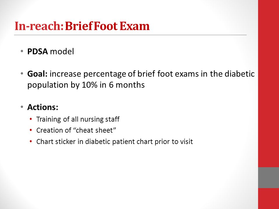 In-reach: Brief Foot Exam