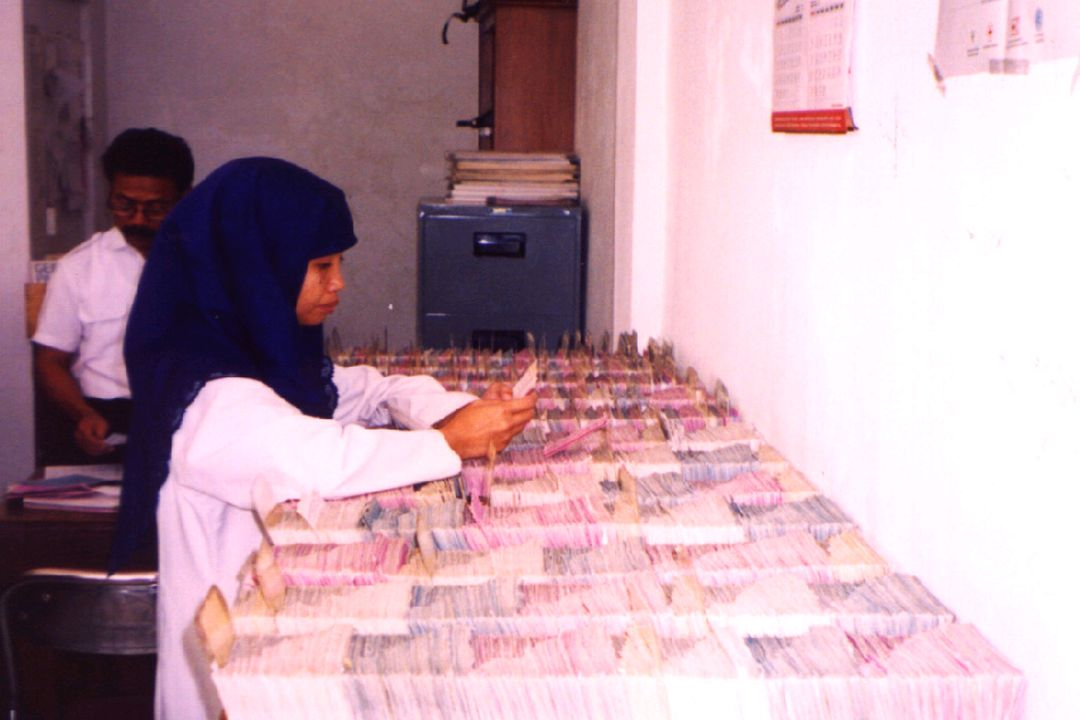 This is a picture of a Filing System (or database) in Indonesia