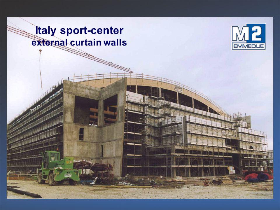 Italy sport-center external curtain walls