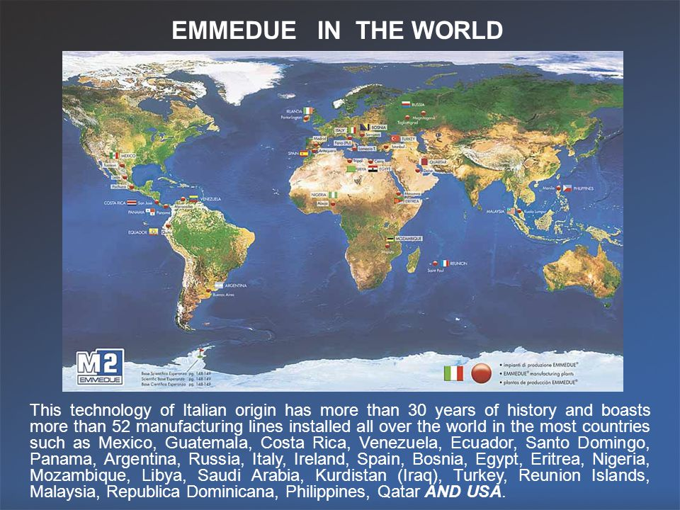 EMMEDUE IN THE WORLD