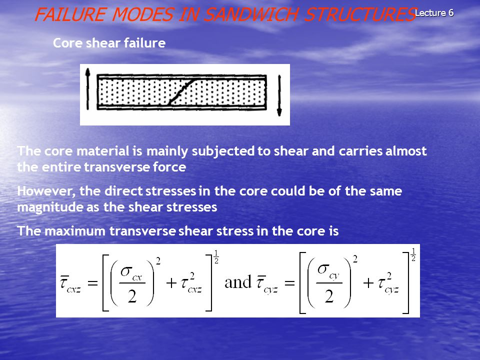 FAILURE MODES IN SANDWICH STRUCTURES