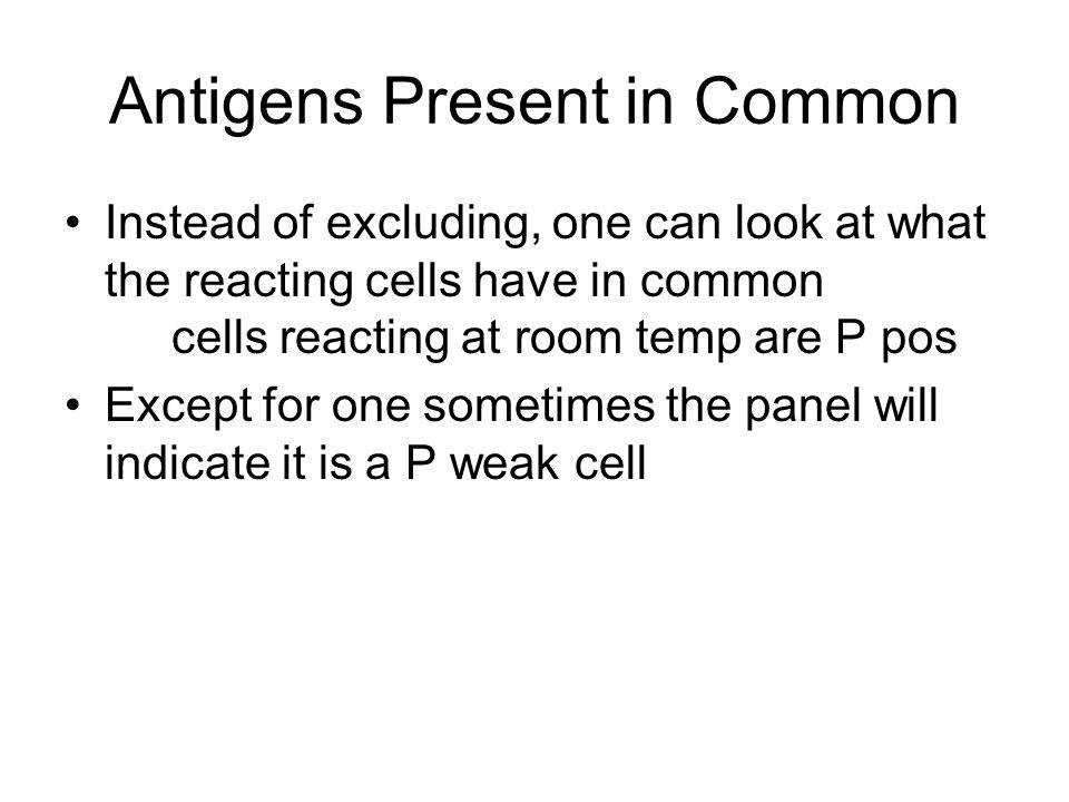 Antigens Present in Common